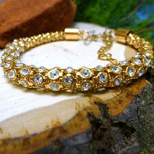Gold Crystal Popcorn Bracelet