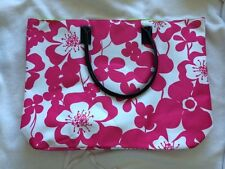 Pink White Floral Weekender Tote Carry All from Macys XL GWP