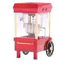 Vintage Nostalgia 2 Oz Red Kettle Popcorn Machine Popper Maker Cart Funtime