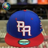 "Puerto Rico Snap Back Hat ""WBC"" ROYAL&RED"