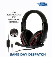 Auriculares Estéreo W Gaming experiencia para PS4/Live Nintendo Switch/Xbox One/Iphone