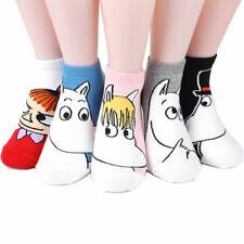 Moomin Women's Socks 5 pairs Made in Korea - Cotton Blended