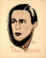 Tino Rossi Original Vintage French Music Poster c1935 Singer