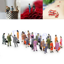 Chic 100x 1:100 Building Layout Model People HO Scale Painted Figure Passenger