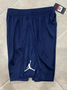 Nike Jordan Brand Mens Basketball Dri Fit Shorts Large Navy White Jumpman
