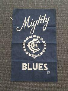 🔶️VINTAGE CARLTON BLUES VFL AFL FOOTBALL CLUB TEA TOWEL 1970s RETRO