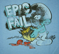 Vintage Smurfs Red Mushroom T-Shirt New Sz Medium NOS 2010 Peyo