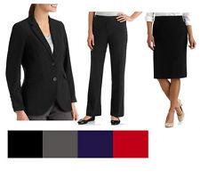 New Classic Career Dress Suits Blazer Skirt Pant Black Gray Navy Petite Plus Reg