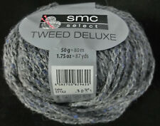 (130 €/kg): 500 g TWEED DELUXE, SMC, Kettstruktur, Fb.7162 grau/jeansblau  #3657