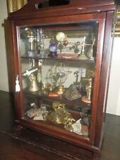 Vintage Miniature Mahogany Cabinet of Scientific Objects