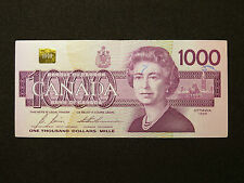 1988 $1000 DOLLAR BILL BANK NOTE CANADA EKA3732075  BONIN - THIESSEN VF
