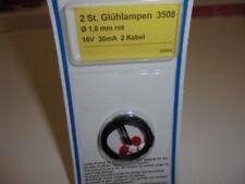 Viessmann 3508 Light Bulbs Lamps Red T1/2, Ø 1,8 mm, 16 v ,30 mA,2 Cable #