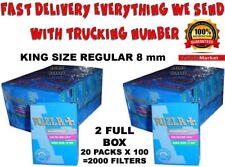 Rizla King Size Regular Cigarette Filter Tips  8 mm 2 x Full Box 20 Packs