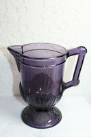 Antique Purple Fancy Pitcher Creamer Cup with Handle