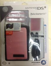 NEW OFFICIAL Nintendo DSi Folio Starter Kit Pink Travel Case Car Charger buds