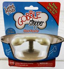 """New listing Gobble Stopper Slow Feeder - Medium (for 6"""" - 8"""" Diameter Bowls) Loving Pets New"""