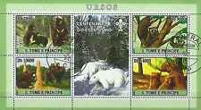 Timbres Animaux Ours St Thomas et Prince 2186/9 o année 2007 lot 10695