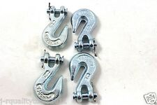 "REPLACEMENT CHAIN ENDS CLEVIS GRAB HOOK LOGGING TOWING EQUIPMENT G30 1/4"" SET"