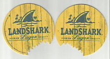 "Lot Of 5 Landshark Beer Coasters=A-B Of St.Louis, MO 4""  ""Premium"" #5865 Round"