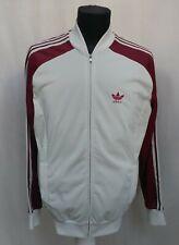 Vintage 80s Adidas Ventex Track Top Jacket Rare 3 Stripes Size 6 M/L Made France
