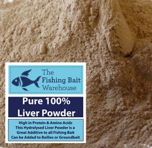 100% Pure Liver Powder 100g - 5kg Fishing Bait, Boilies, Groundbait