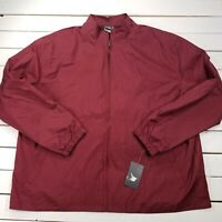 New Balance NB Track Windbreaker Jacket Mens XXL Maroon Warm up Zip Lined NBJK1