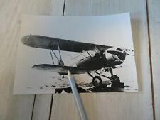 Vintage photo Hawker Hart biplane aircraft Swedish Air Force