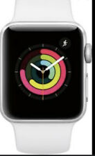 NEW Apple Watch Series 3 GPS 38MM Silver Aluminum Case White Sport Band