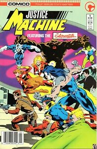 Justice Machine #1 (May 1986, Comico) Fine Plus Elementals Discount Shipping