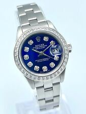 Rolex Oyster Perpetual Ladies Datejust 26mm 79240 Blue Diamond Dial