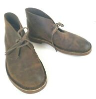 Clarks Mens Bushacre 2 Beeswax Leather 26082286 Chukka Boot Brown Size 8.5