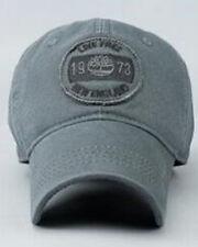 NUOVO Timberland vivere liberi England berretto da baseball davanti Logo Grigio completamente regolabile