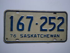 1976 SASKATCHEWAN CANADA License Plate 167 252 Can