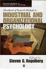 Handbook Of Research Methods In Industrial & Organizational Psychology RODELBERG