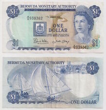 Bermuda 1 Dollar Jan 01 1986 VF P28c