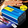 5000w peak pure sine wave power inverter 12v DC to 110v 120v AC car converter US