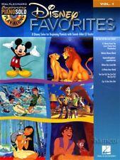 Disney Favorites Beginning Piano Solo Play-Along Volume 1 Sheet Music Book & CD