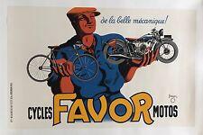 Original Vintage Poster Favor Cycles Motos by Bellenger 1937