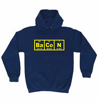 Bacon Periodic Table HOODIE chemistry teacher hoody funny birthday gift 123t
