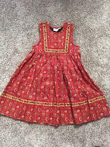 Vintage floral corduroy jumper dress dark red baby girl 6-9 9-12 months 1990s retro