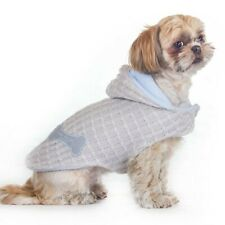 Dog Clothes Shih Tzu Terrier Puppy Pet Coat Jacket Cockapoo BROWN Colour Doggy