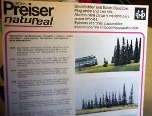 Preiser, Vintage, New in Package, HO scale, Trees, Plug Pines