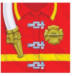 Firefighter 16 Beverage Napkins Fire Chief Badge Birthday Party 3 Ply
