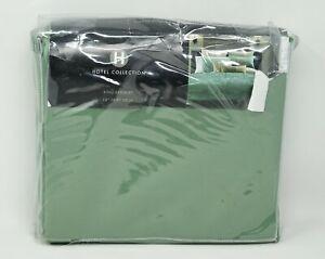 "Hotel Collection Cabochan Geometric Cotton Blend 16"" Drop Bedskirt KING - Green"