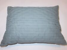 Calvin Klein Pleated Linen Blend deco pillow Blue Green NWT