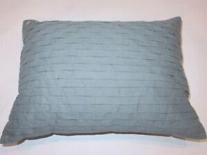 Calvin Klein Pleated Linen Blend deco pillow Blue Green NWT
