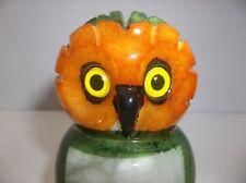 Vintage Italian Alabaster Marble OWL Sculpture