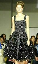 Oscar de la Renta Resort 2008 Polka Dot Ruffle Flare Runway Cocktail Dress US 2
