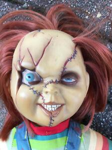 Chucky Puppe Die Mörderpuppe Scarred Figur Original Rarität Sammlerstück