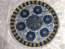 BEAUTIFUL LARGE PASSOVER ROUND GLASS PLATE1